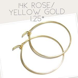 Mid/Medium Sized Solid Gold Hoops